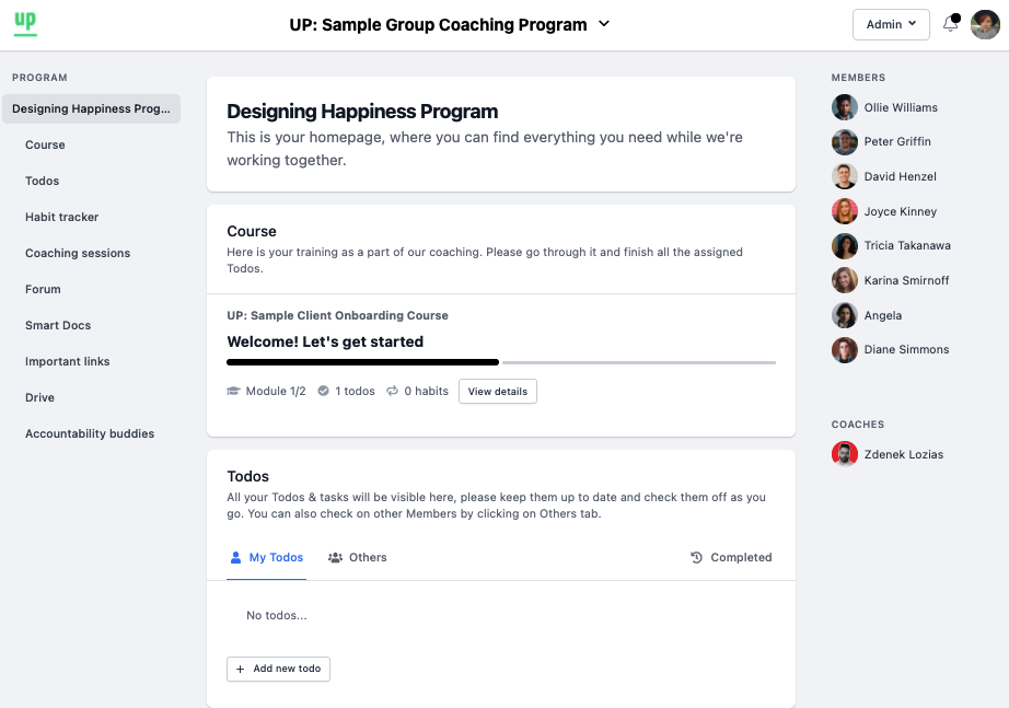 upcoach program