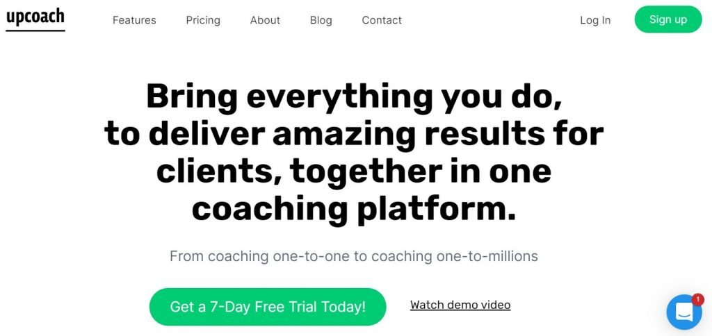 upcoach is a comprehensive group coaching platform